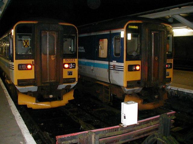 Two class 153 units at Shrewsbury