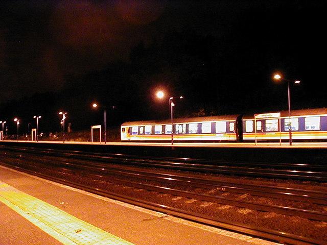 A Chertsey Branch train at Weybridge