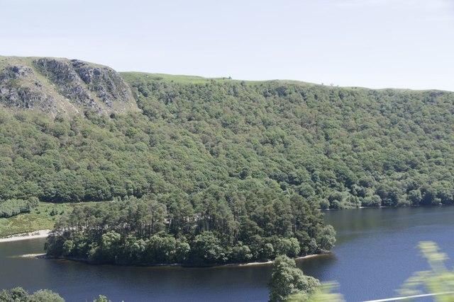 Island in the Penygarreg Reservoir