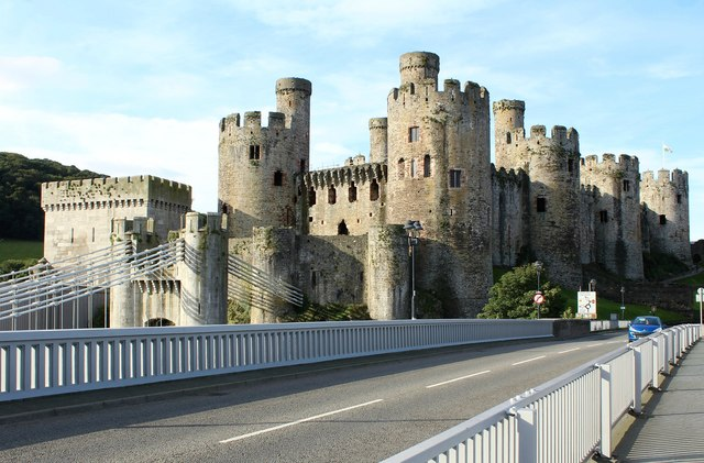 Conwy Castle from A547
