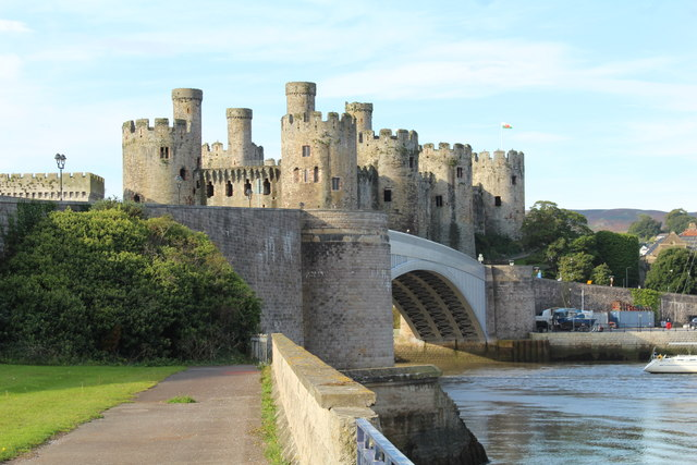 Conwy castle and the A547 road bridge