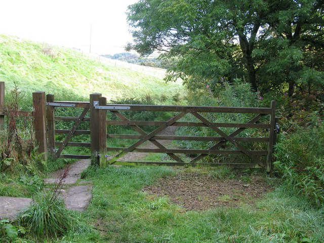 Gate on the path to Gibson Mill