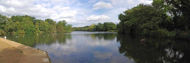 The Highams Park Lake Panorama