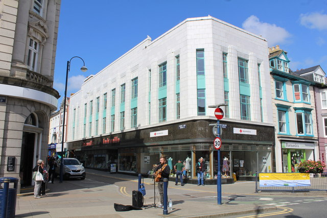The former Burton's the tailors store