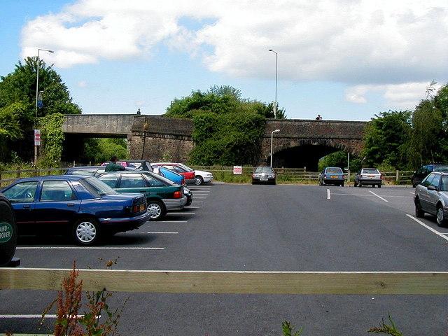Two ex-railway bridges at Barnstaple