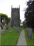 SX5599 : Inwardleigh churchyard by David Smith
