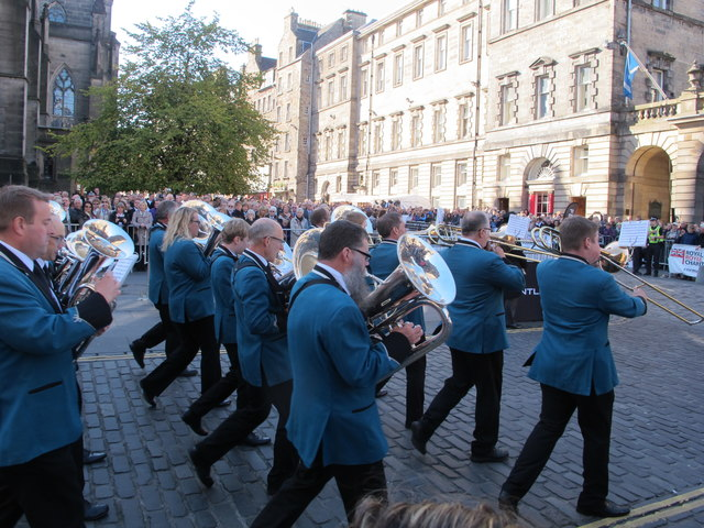 St. Ronan's Silver Band at Edinburgh Riding of the Marches