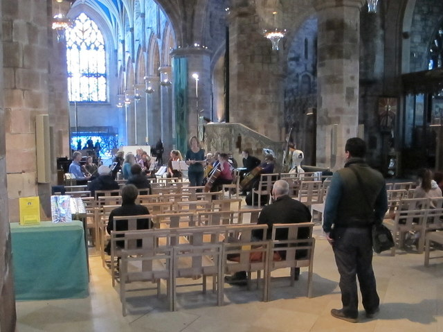 Music rehearsal in St. Giles Cathedral, Edinburgh