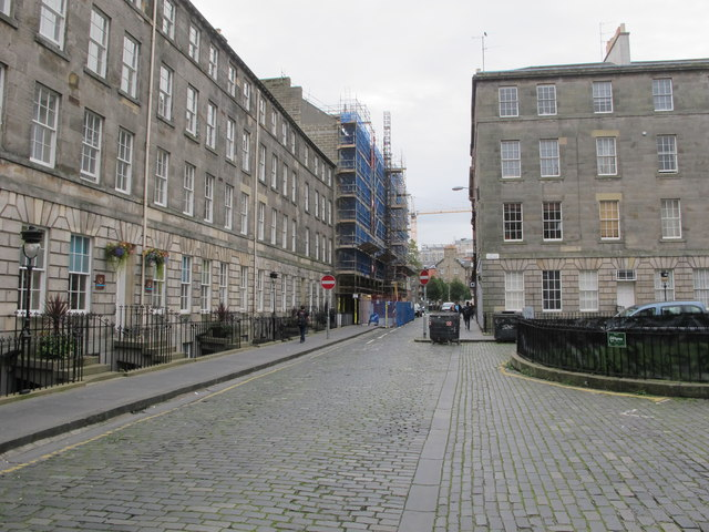 Hill Place, Edinburgh, with scaffolding for hotel expansion