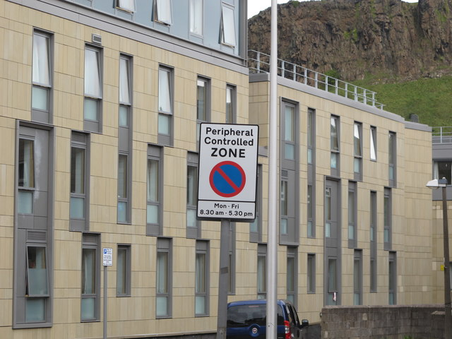 Deaconess Hospital, Salisbury Crags and parking signs