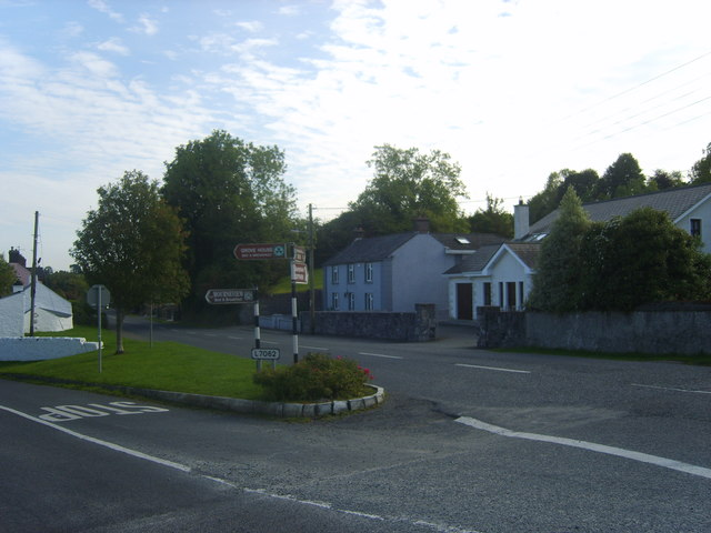 The junction of Dundalk Road and Grove Road in the southern suburbs of Carlingford