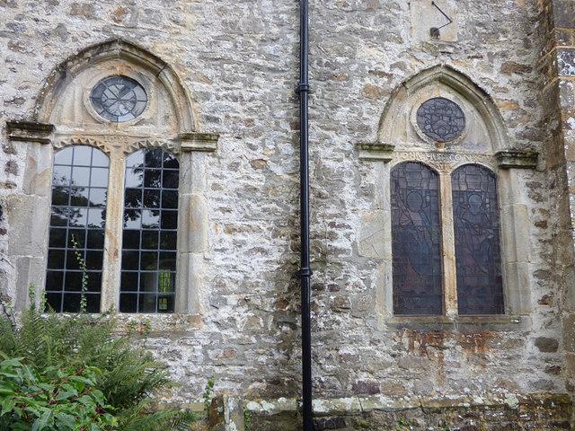 St Edmund, Marske - south windows