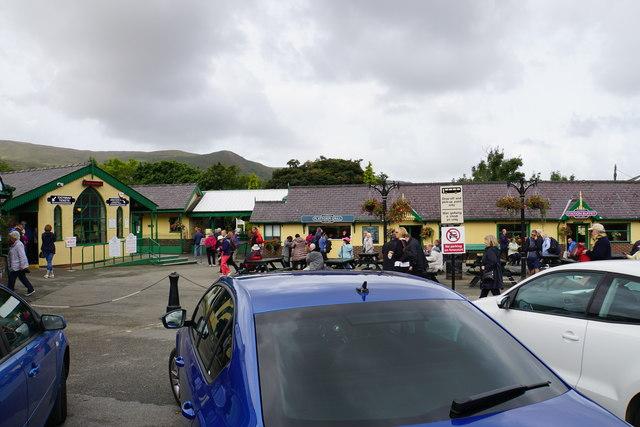 Outside Llanberis Station