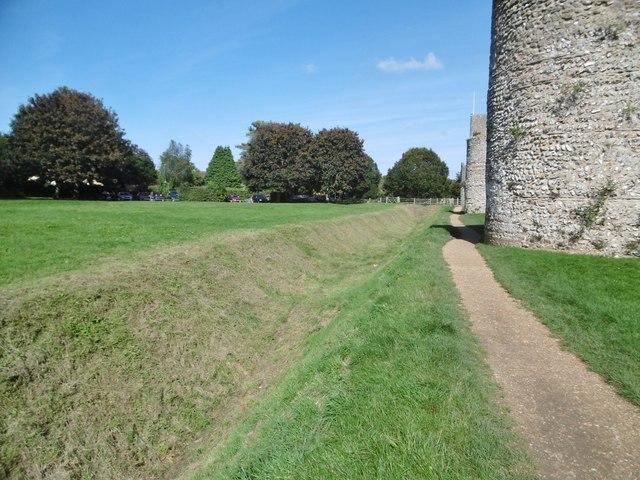 Portchester, moat
