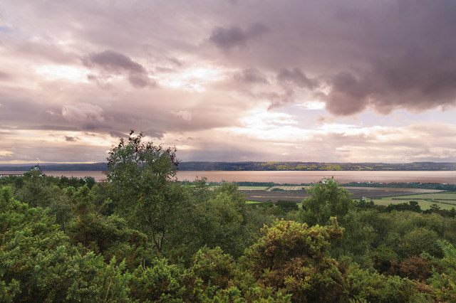 The view across the River Dee from the summit of Thurstaston Hill