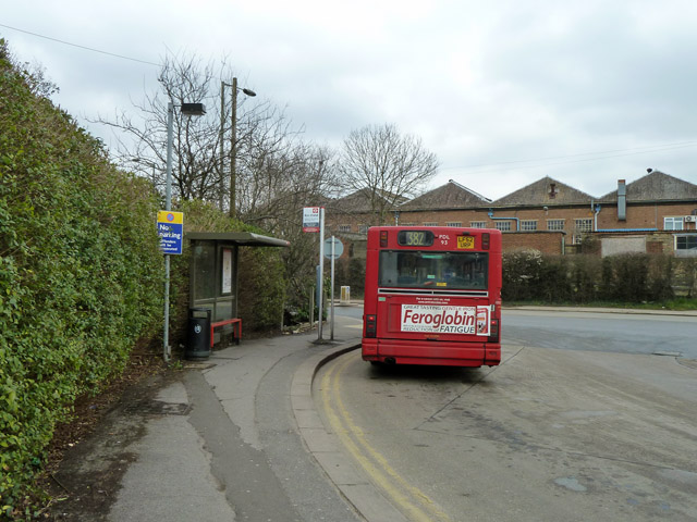 Bus stand at Mill Hill East station