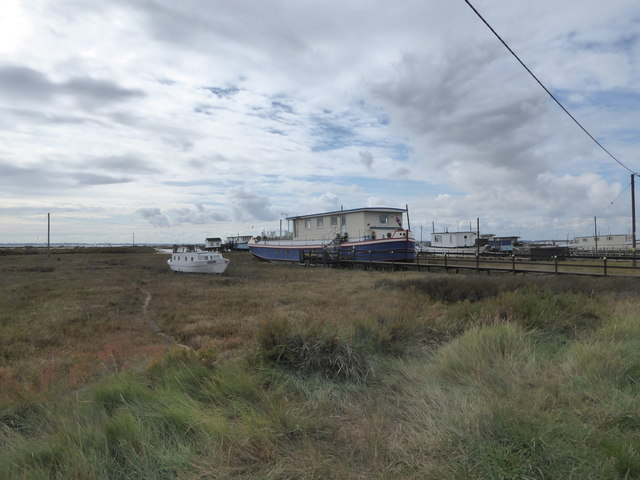 Houseboats at West Mersea
