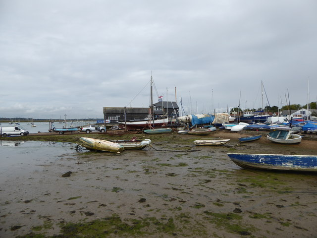 Boats on the hard near the Lifeboat Station