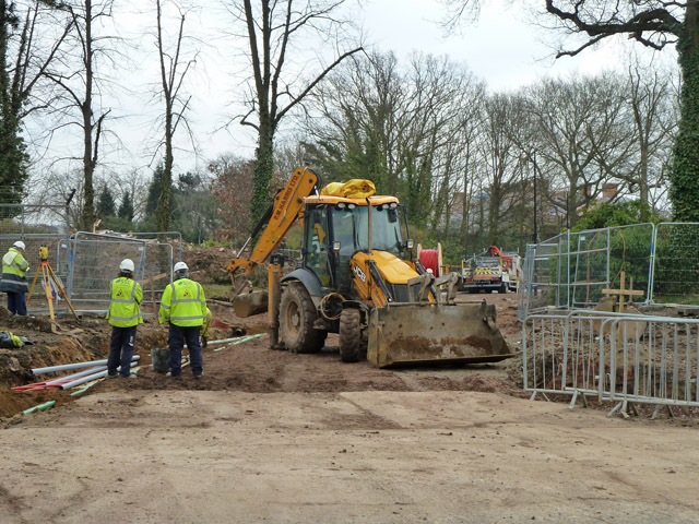 Early work on the Millbrook Park development