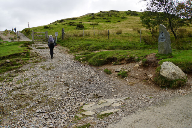 The beginningof the Llanberis Path