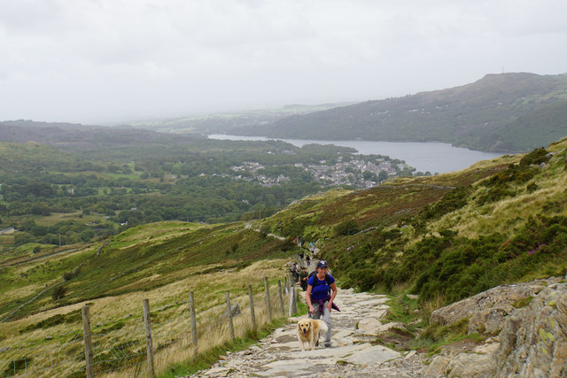 Path climbing up from Llanberis