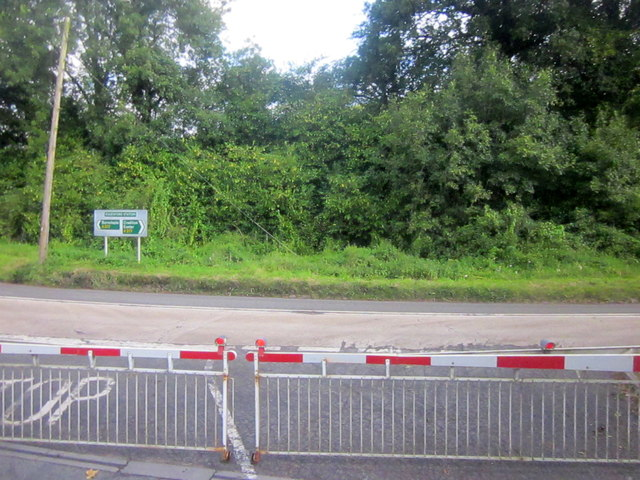 Level Crossing Eggesford Station by A377