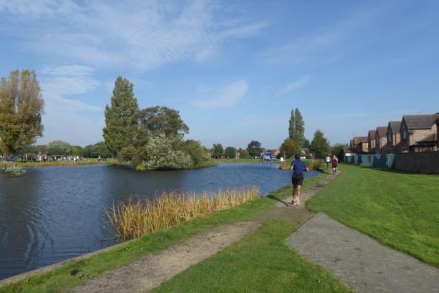 Boating lake in Pickering Park