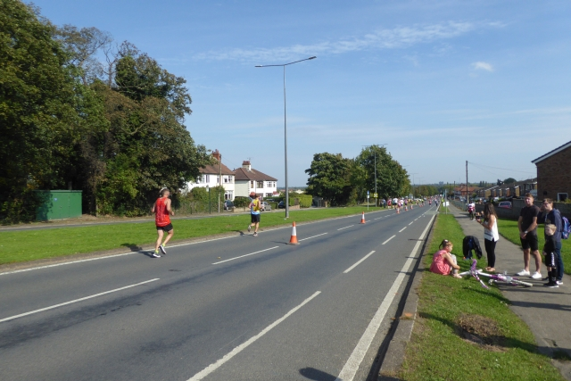 Boothferry Road during the marathon