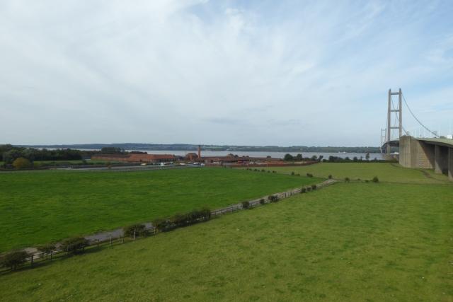 Fields beside the bridge