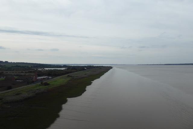 Humber Estuary from the bridge