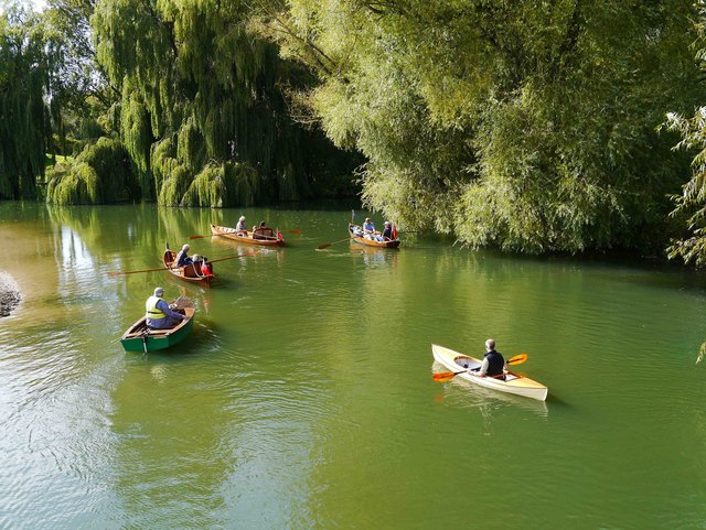Small boats on the River Thames near Inglesham