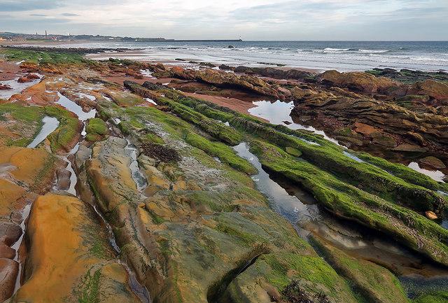 Coastal rocks at Hud's Head