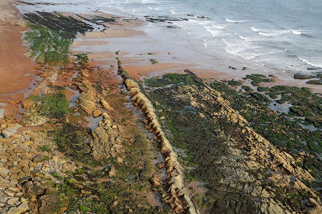 Coastal rocks below Hud's Head