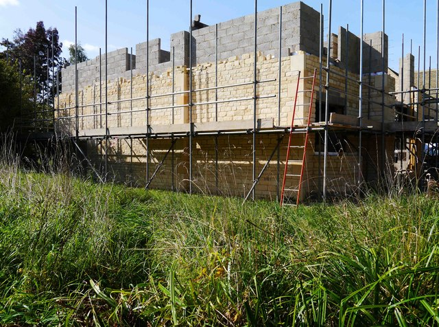 Building under construction, High Street, Lechlade on Thames, Glos
