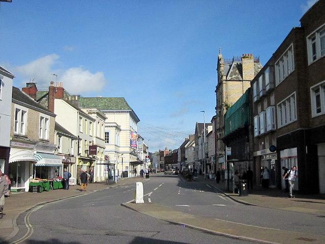 Boutport Street Barnstaple From Queen Street Junction