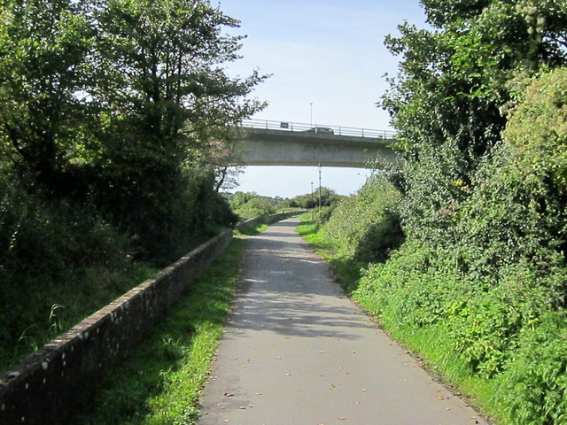South West Coastal Path Passing Under A361 Bridge Barnstaple