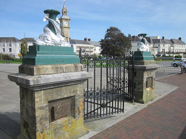 Cast Iron Dolphin Gates by Barnstaple Museum