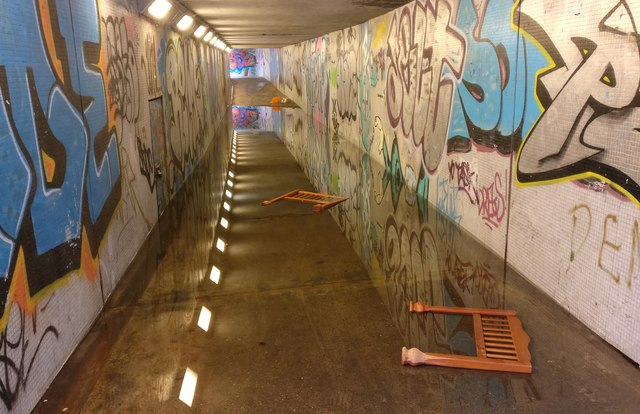Flooded subway under Narborough Road South