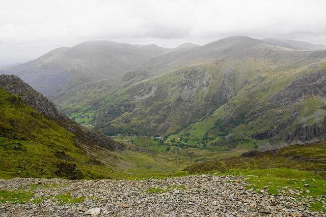 Hillside above Cwm Glas Bach