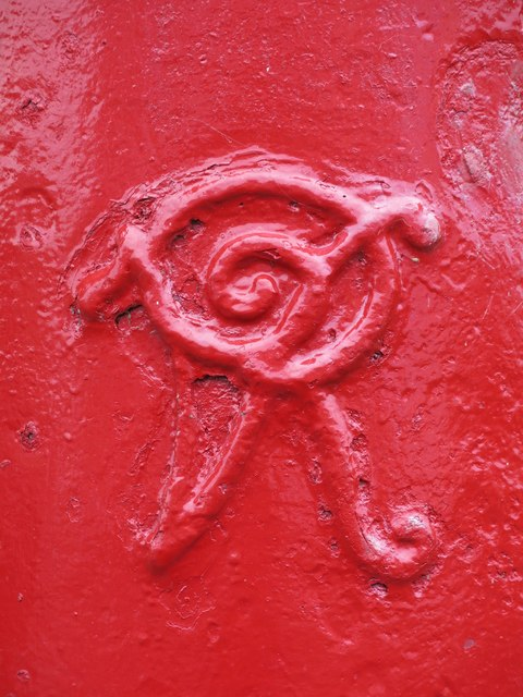 Victorian postbox, Margaret Road - royal cipher