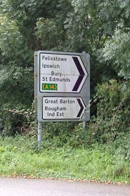 Roadsigns on Blackthorpe Road