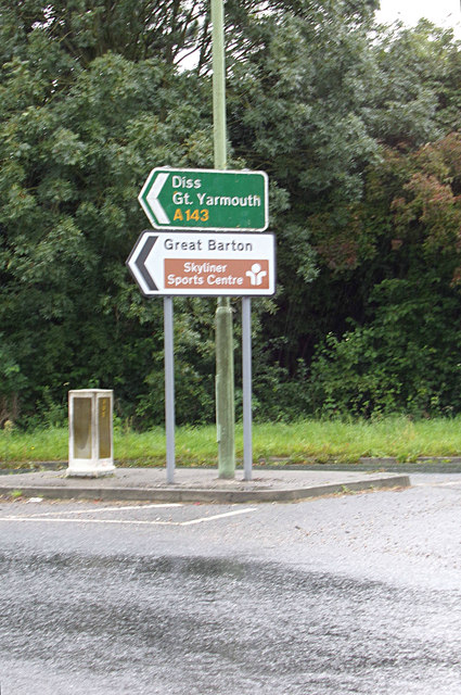 Roadsign on the A143