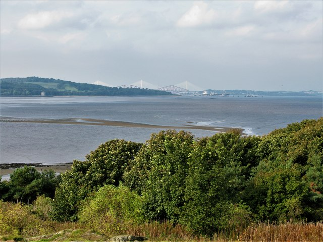 View West from Cramond Island along the Firth of Forth, Edinburgh