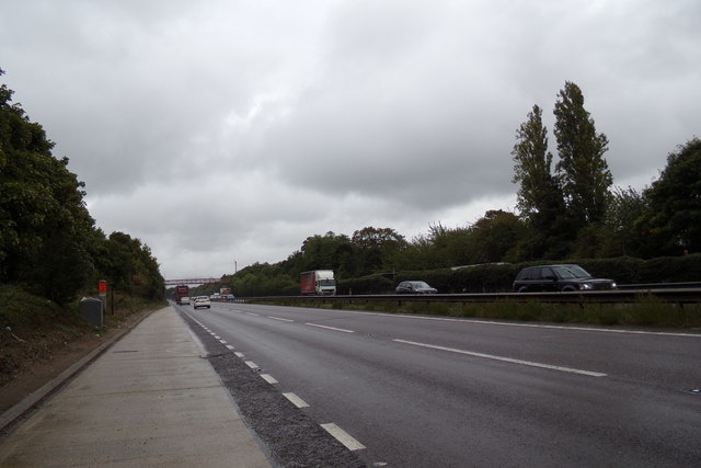 A14 & Layby at Bury St.Edmunds