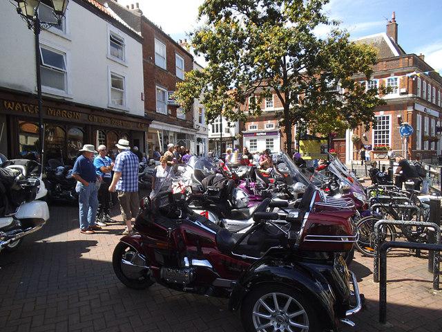 Motorbike rally in Driffield Market Place
