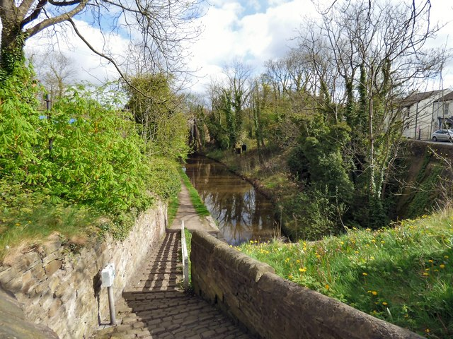 Steps to the canal