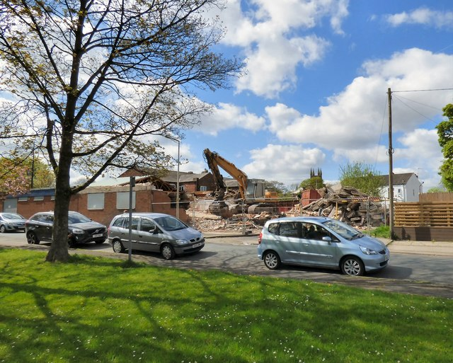 Demolition at the Lowes Arms