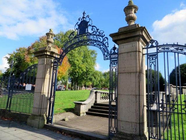 Gate to Memorial Gardens