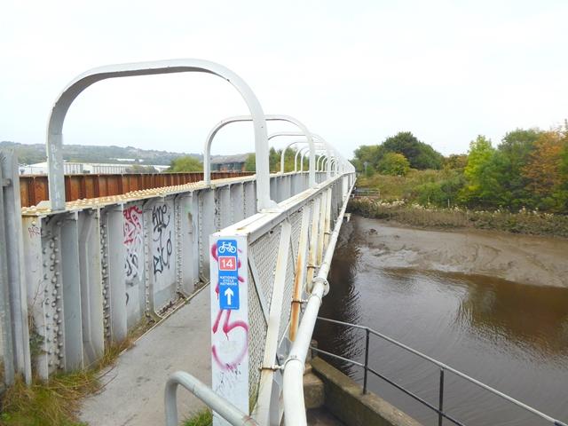 Keelman's Way bridge over the River Derwent