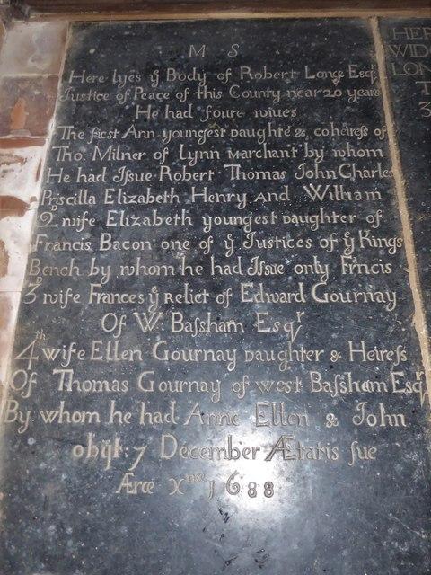 St Peter, Reymerston: leger slab (d)